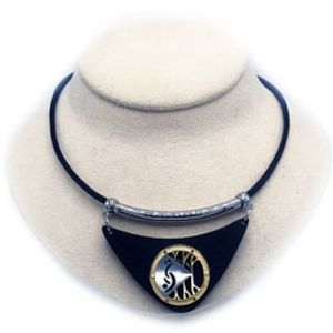 Black and Silver Lifestyle Necklace